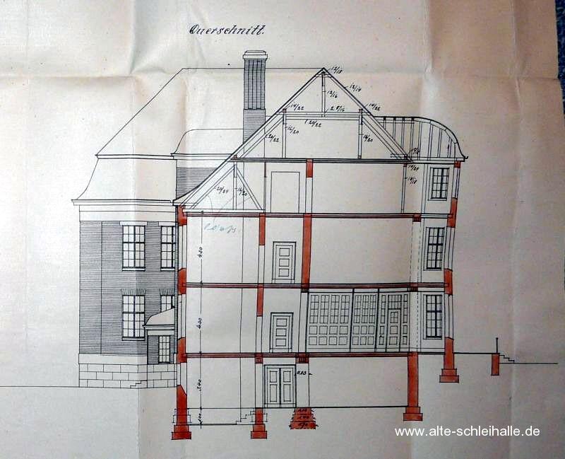 Querschnitt Haus 16 Westansicht