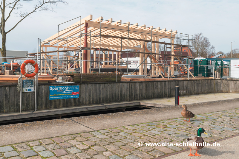 Neubau Hafencafé Schleswig