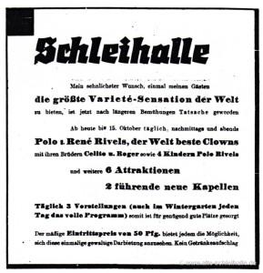 Annonce SN 01.Oktober 1937