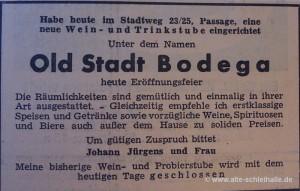 Anzeige SN 1.Dezember 1956