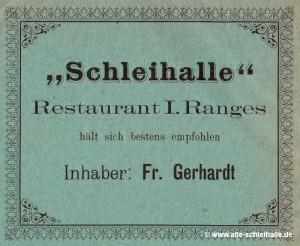 Schleihallen-Werbung 1903