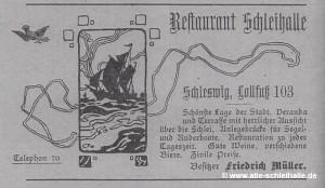 Schleihallen-Werbung 1912