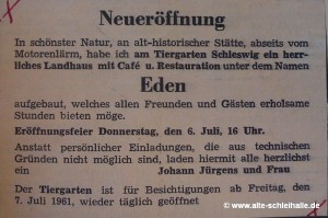 Anzeige SN 5.Juli 1961