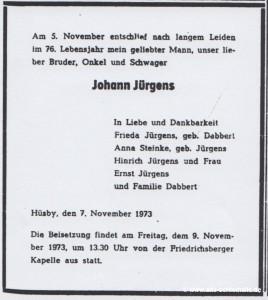 Todesanzeige SN 7.11.1973