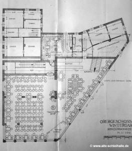 Konzessionszeichnung Wintergarten 1949