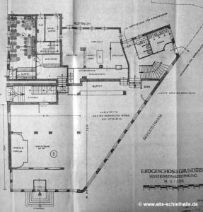 Konzessionszeichnung Erdgeschoss 1949