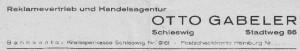 Anzeige Otto Gabeler