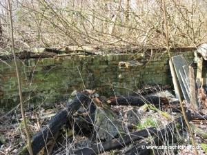 Die Ruine des Getreideschuppens im Jahr 2007.