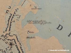 Stadtplan von 1823 mit Öhr, Tegelnoor und Otterkuhle