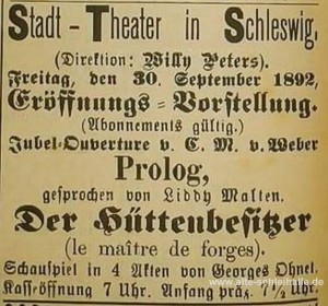 Eröffnung 30.September 1892