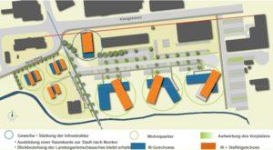 Lageplan des Neubaugebietes an den Königswiesen