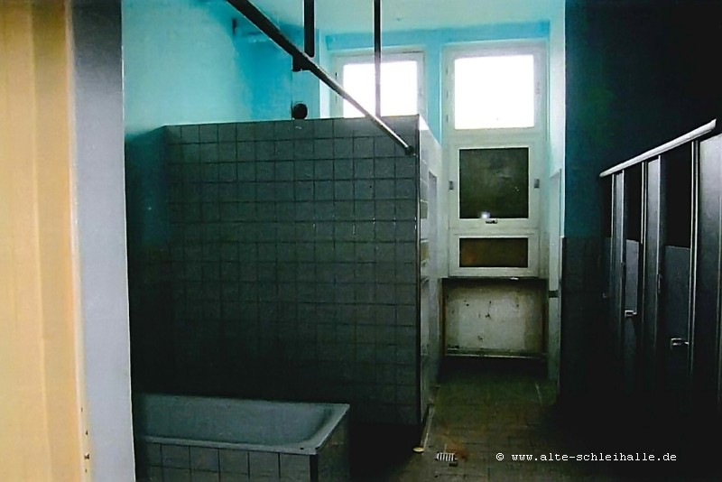 Station F1, Waschraum, heutiger Zustand vor dem Abriss.